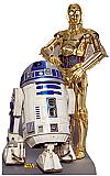 R2-D2 & C-3PO Cardboard Cutout Standup Prop