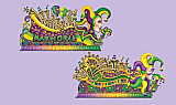 "Mardi Gras Float Props 5' 5"" & 5' 7"""