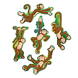 "Mini Monkey Cutouts 6½""-7"""