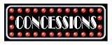 "Concessions Sign 8"" x 22"""