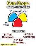 Flat Foam Gumdrop Prop - 2D-Flat