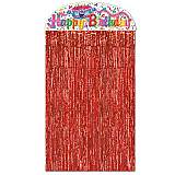 "Happy Birthday Curtain 4' 6"" x 3'"