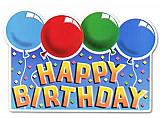 "Glittered Happy Birthday Sign 12"" x 18"""
