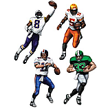 Football Cutouts 20""