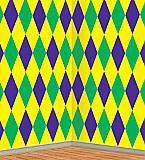 Mardi Gras Harlequin Backdrop 4' x 30'