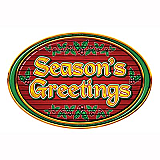 Season's Greetings Sign Cutout