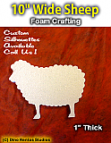 10 Inch Sheep Foam Shape Silhouette