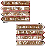 "Western Sign Cutouts 4"" x 24"""