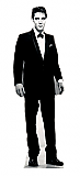 Elvis Black Tuxedo (Talking) - Elvis Cardboard Cutout Standup Prop