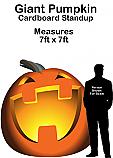 Giant Pumpkin Cardboard Cutout Standup Prop