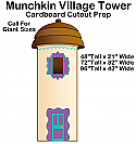 Munchkin Village Tower - Wizard of Oz Cardboard Cutout Standup Prop