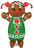 "Inflatable 52"" Gingerbread Girl"