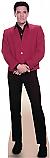 Elvis Red Jacket - Elvis Cardboard Cutout Standup Prop