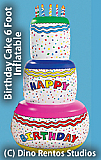 6 Foot Inflatable Birthday Cake Prop
