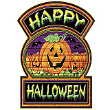 "Happy Halloween Sign 12"" x 16¾"""
