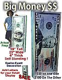 Big Money 100$ & 50$ Self Standing Foam Prop Display