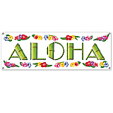 Aloha Sign Banner 5&#039; x 21&quot; Luau