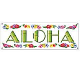 """Aloha Sign Banner 5' x 21"""" Luau"""