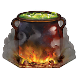 "Witch's Cauldron Stand-Up 3' ½"" x 23½"""