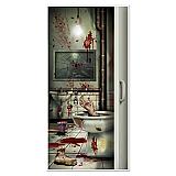 "Creepy Crapper Restroom Door Cover 30"" x 5'"