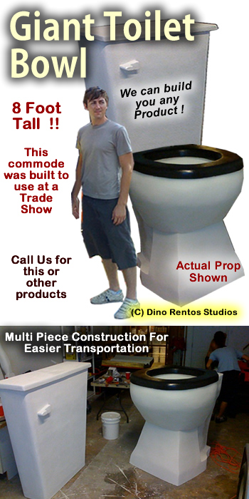 Giant / Big Toilet Bowl / Commode Foam Prop