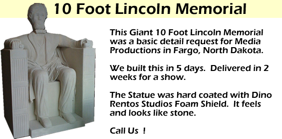 Giant 10 foot foot Lincoln Prop