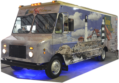 Custom Food Trucks, Food Truck and Carr toppers Advertising 3D