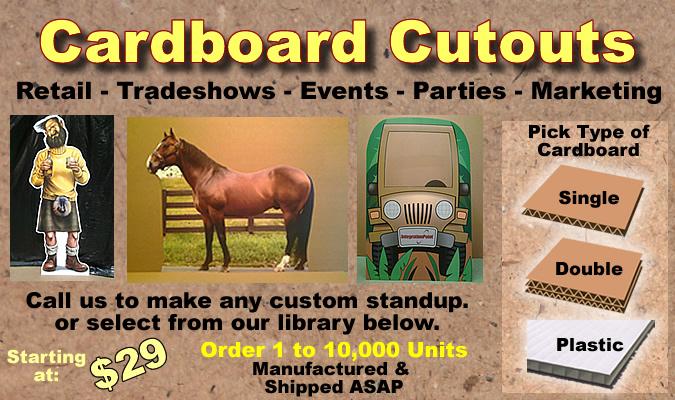 9dfd99e7286a Cardboard Cutout Standup Props - Custom - Dino Rentos Studios, INC.
