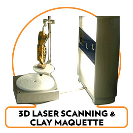 3D Laser Scans & Maquette Clay Models