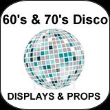 60's & 70's Disco Cardboard Cutouts