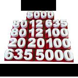 Custom 3D Printed Plastic Letters & Numbers