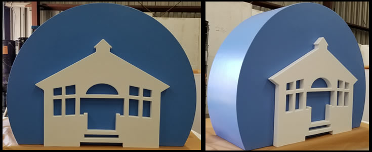 Custom Foam Logo for Bank Lobby