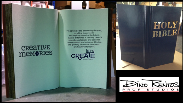 Giant Custom Foam Book Sculpture Prop for Scenic and Event Displays