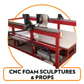 CNC FOAM SCULPTING PROPS AND DISPLAYS