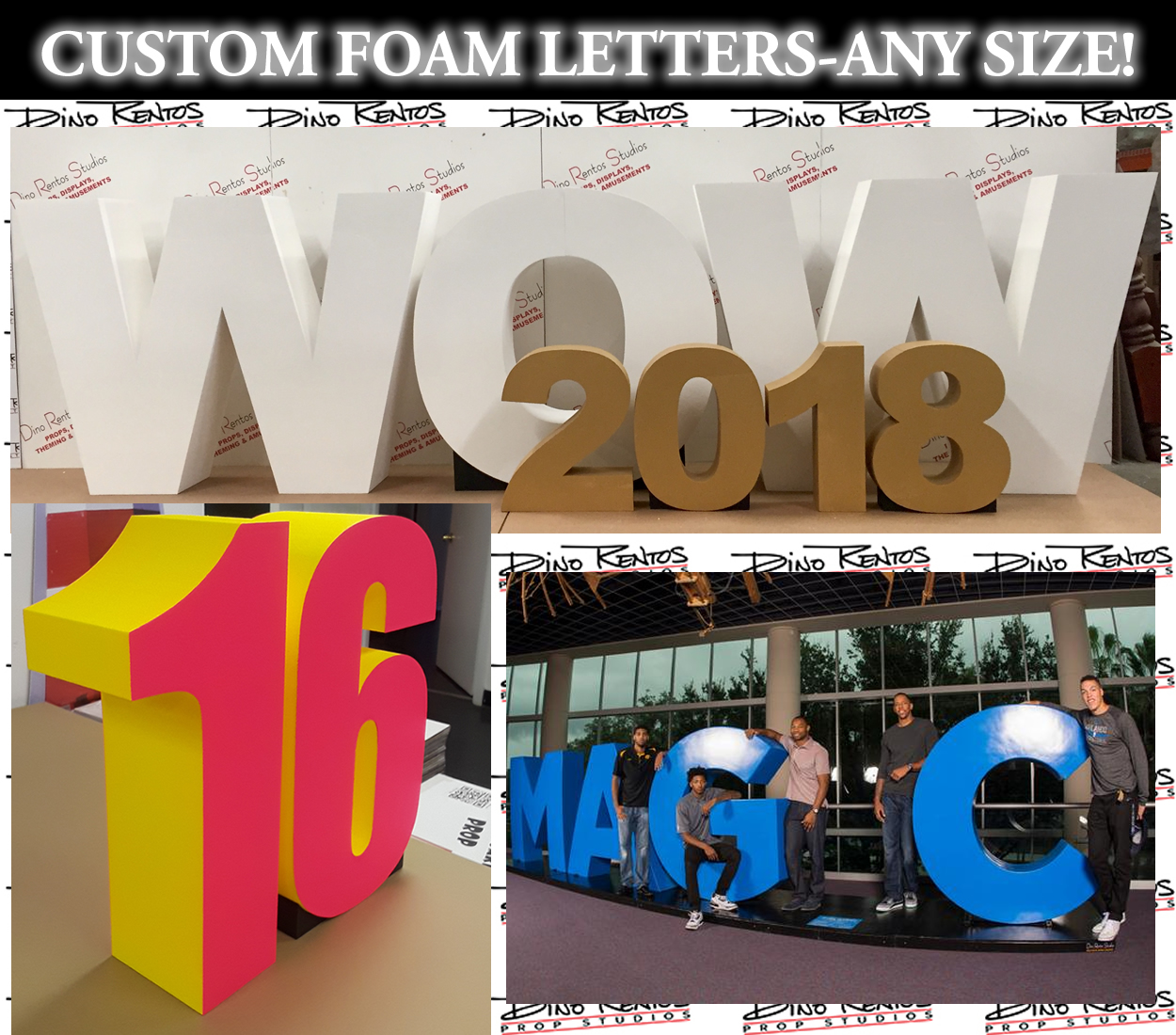 Foam Letters - Giant, Big, Oversized Letters and Numbers - Dino