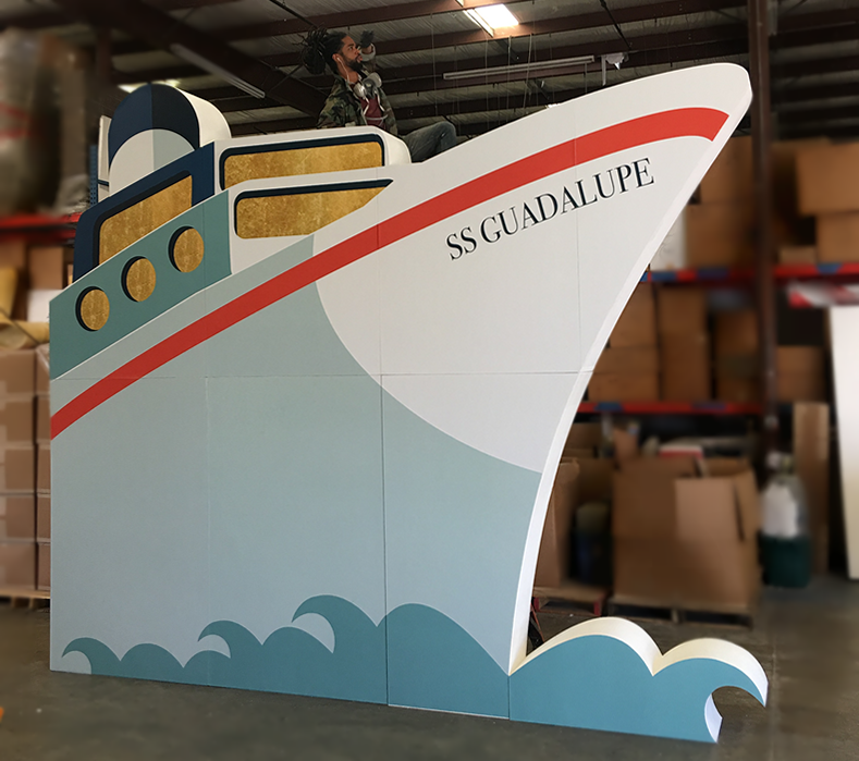 Ship Facade Print on Foam Prop