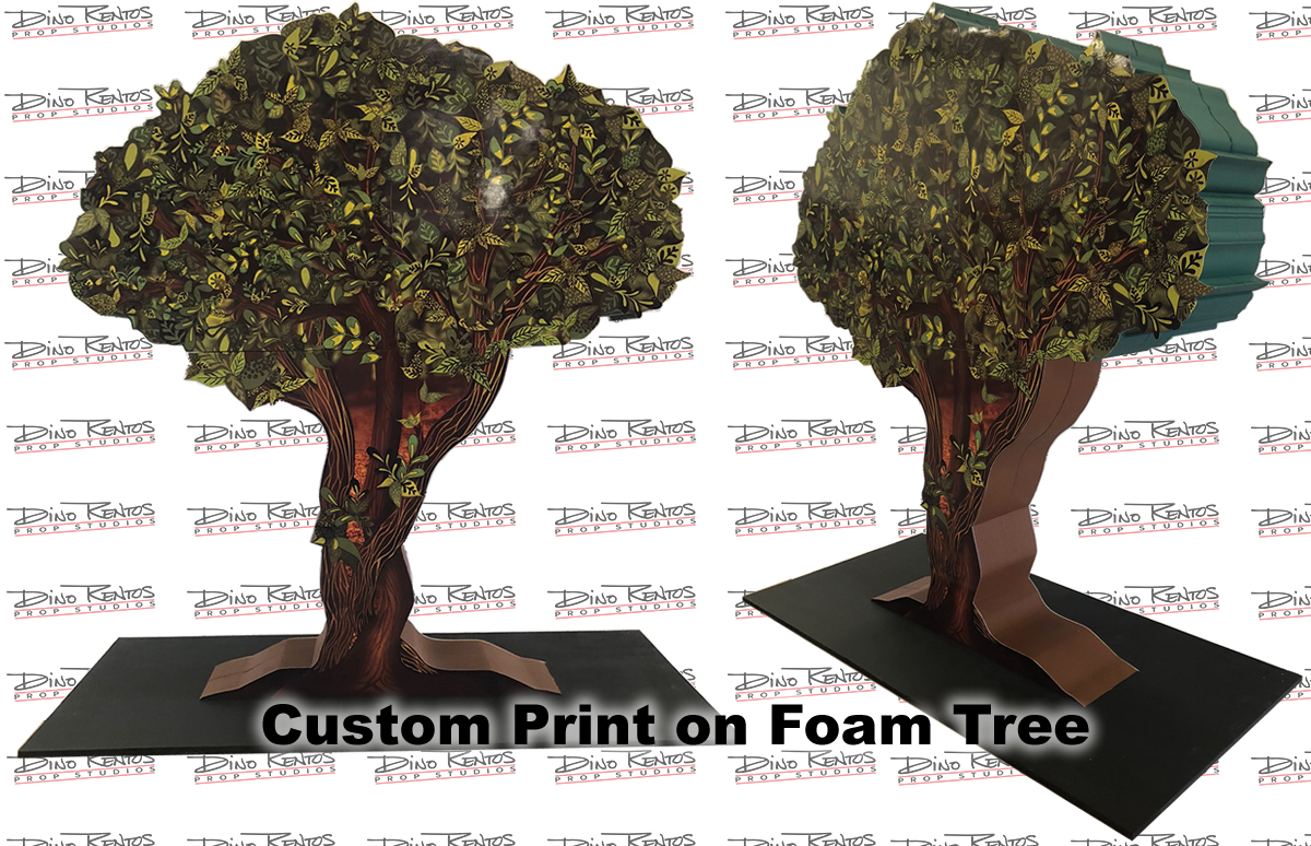 Custom Print on Foam Foam Core Tree Prop for Tradeshow and Corporate Event Displays