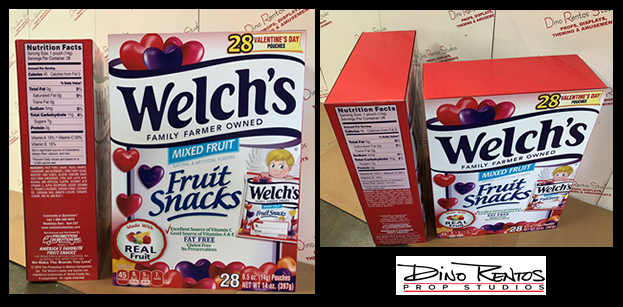 Welch's Box 3D Cardboard Cutout Standup Prop for retail and tradeshow displays