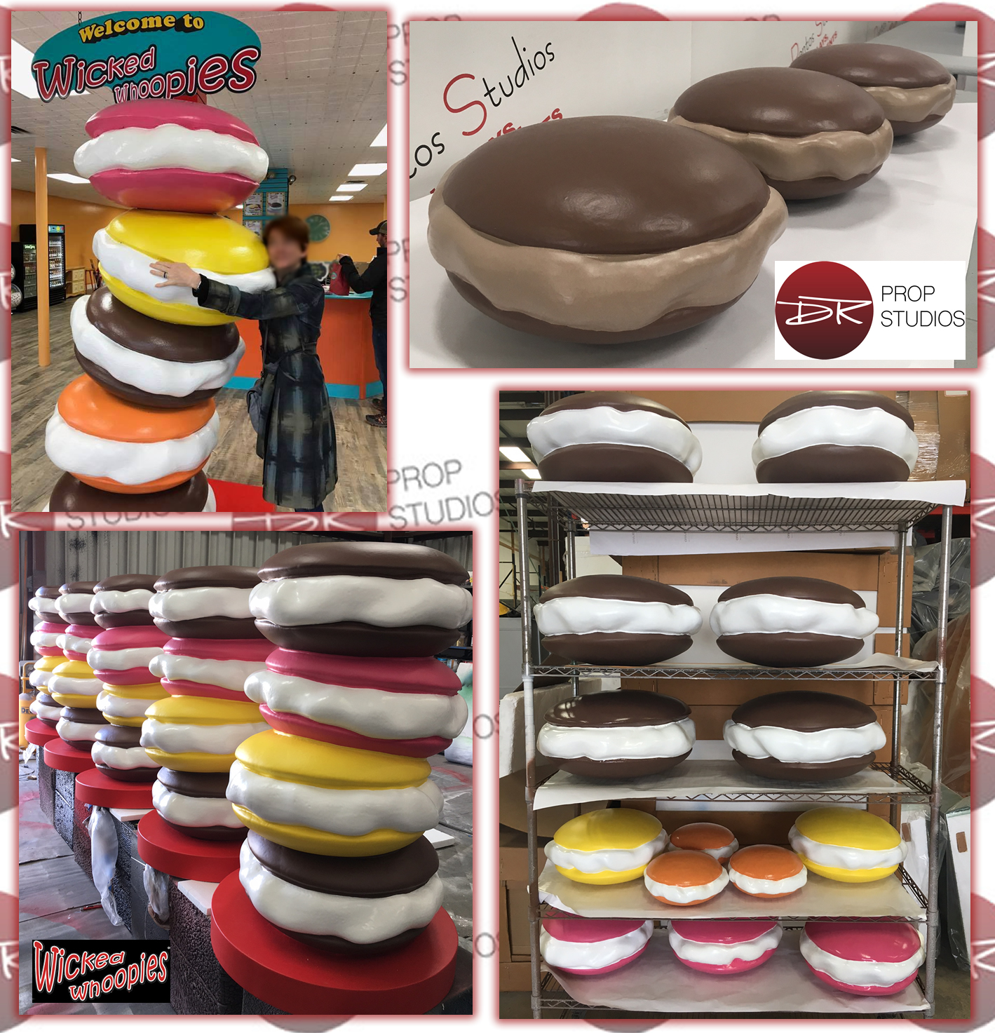 Large Oversize Foam Product Replicas Whoopie Pies Dessert