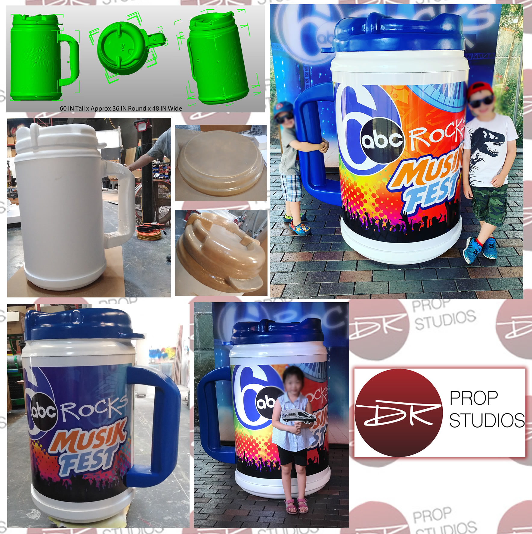 abc musikfest large foam mug for events and tradeshows