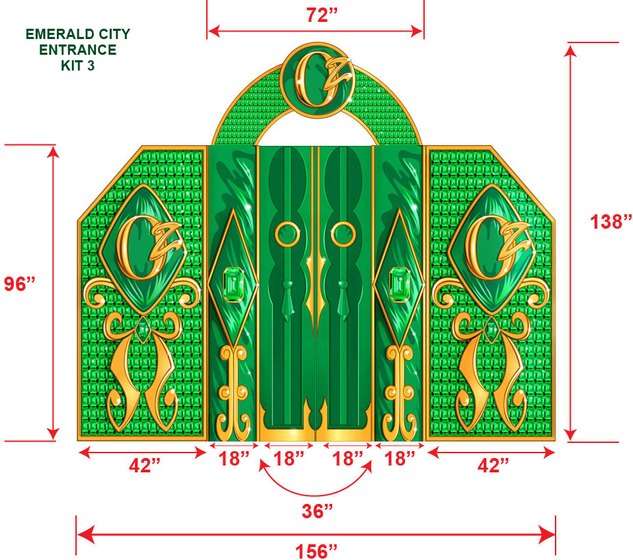 Wizard Of Oz Emerald City Entrance Cardboard Cutout Standup Prop