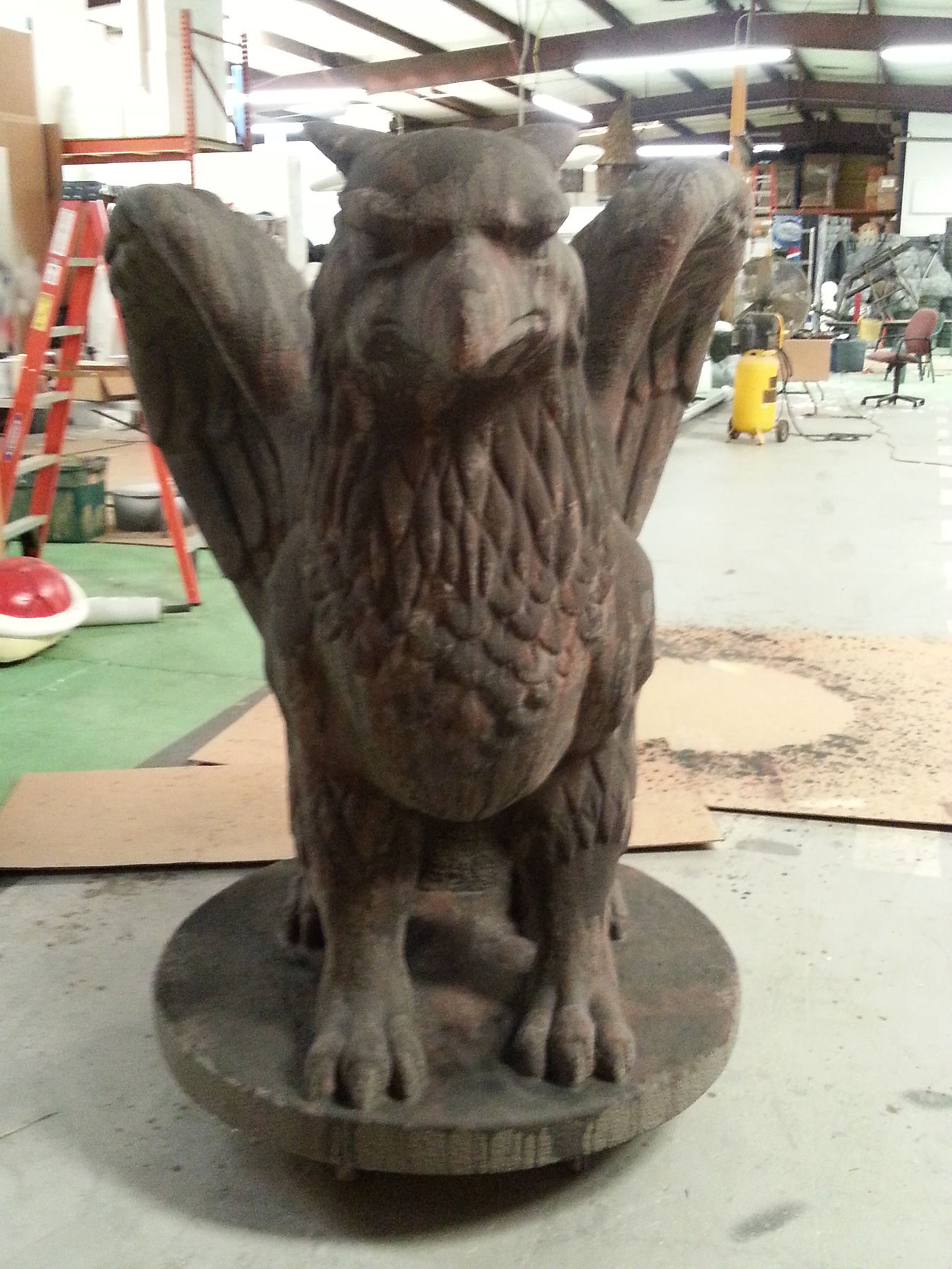 Foam And Concrete Griffin Gargoyle Sculpture Statue Prop