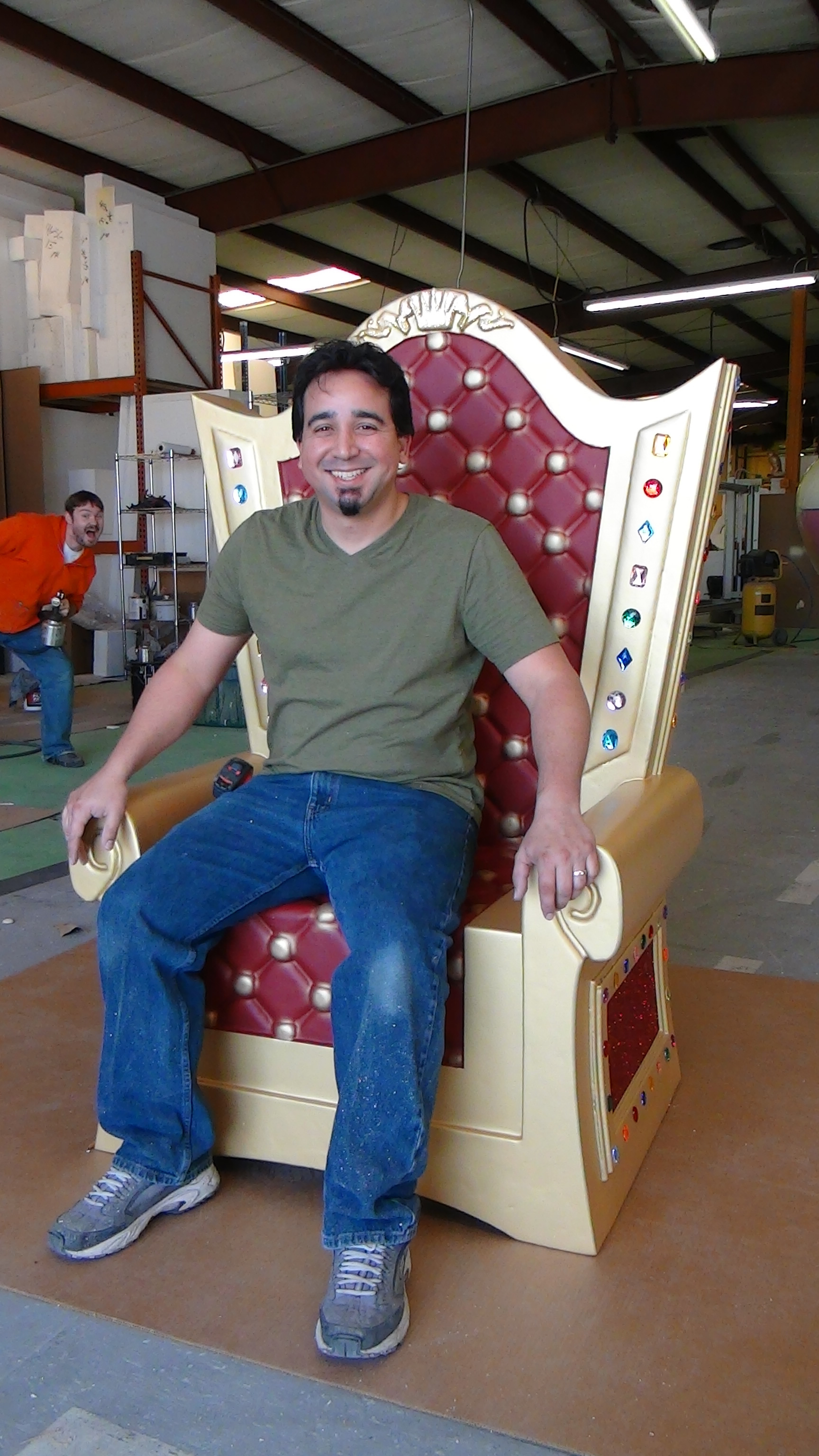 Santa Throne Chair Foam Prop Made In The Usa