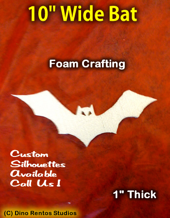 10 Inch Bat Foam Shape Silhouette