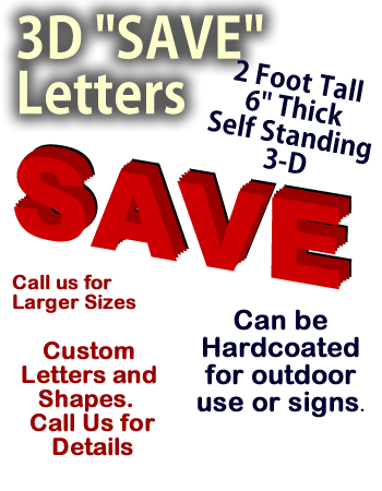 "24 Inch Foam ""SAVE"" Letters"