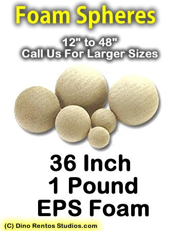 EPS Foam  Sphere 36 Inch - 1 lb Density