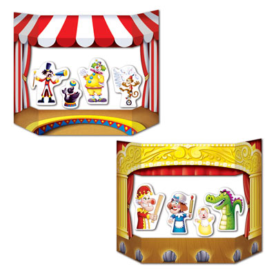 """Puppet Show Theater Photo Prop 3' 1"""" x 25"""""""