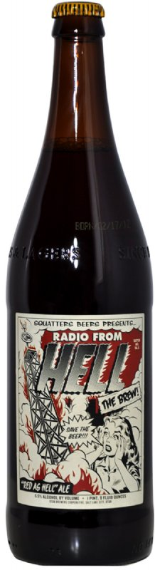 Radio From Hell Bottle Cardboard Cutout Standup Prop