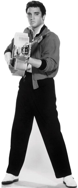 Elvis Black and White - Elvis Cardboard Cutout Standup Prop