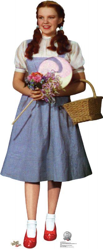 Dorothy - 75th Anniversary - The Wizard of Oz Cardboard Cutout Standup Prop